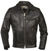 Schott Nyc - Black Racer Motorcycle Leather Jacket Horsehide