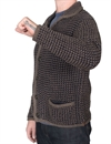 Brixton - Powell Cardigan - Heather Grey/Navy