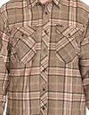 Brixton - Weldon L/S Flannel Shirt - Light brown