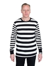 Deus - Stevie Striped LS Tee - Blanc/Black