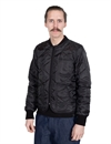 Eat Dust - Frostbite Quilted Nylon Jacket Bloodline - Black/Red