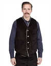 Eat Dust - 373-R Sherpa Lined Corduroy Vest - D Brown
