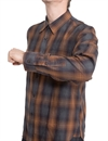 Eat Dust - Riders Grey Bear Check Shirt - Brown/Grey