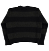 Girls Of Dust - Womens Cobain Striped Knit Sweater - Green/Black