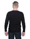 Homespun Knitwear - Lot 003 Surplus Henley Long Sleeve - Aged Black