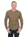 Homespun Knitwear - Lot 006 Thermal Crew Bulky Waffle - Hunters Olive