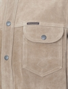 Indigofera - Copeland Shirt Jacket Rough-Out Leather - Dust Beige
