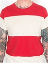 Levi´s Vintage Clothing - 1950´S Sportswear Striped Tee - Bright Red/Ecru