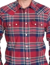 Lee - 101 Rider Shirt Checked - Red Dahlia