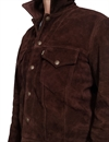 Levis Vintage Clothing - 1960s Suede Trucker Jacket - Chocolate Brownie