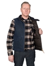 Manifattura Ceccarelli - Goose Down Vest Waxed Canvas - Navy