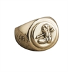 O.P Jewellery - Prarie Signet Ring - Brass