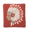 Pendleton - Chief´s Concho Hooked Pillow - Red