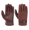 Stetson - Woolrich Leather Gloves - Burgundy