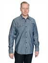Tellason - Long Sleeve Chambray Shirt