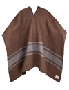 Brixton - Barry Poncho Blanket - Brown/Grey