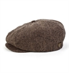 Brixton - Brood Snap Cap Herringbone - Brown/Khaki