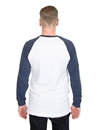 Captain Fin - College Baseball LS Tee - White/Navy