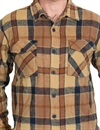 Captain - Fin - Grant Woven Flannel Shirt - Tan