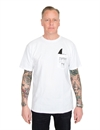 Captain Fin - Shark Fin Pocket Tee - White