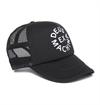 Deus - Circle Logo Trucker Hat - Black/Black
