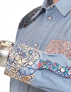 Eat Dust - Morrison 70´s Western Denim Shirt - Indigo Blue
