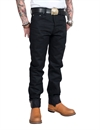Eat Dust - Fit 73 Bloodline Raw Selvage Jeans - Black