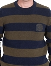 Eat Dust - Club Knit Striped - Navy/Khaki
