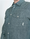 Eat Dust - WESTERN SHIRT CHAMBRAY