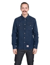 Eat Dust - Heavy Denim Western Shirt - Indigo Blue