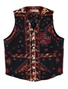 Eat Dust - 373 Blanket Wool Vest - Navy/Bordeaux