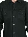 Indigofera - Copeland Over Shirt Black Gunpowder - 14oz