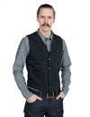 Indigofera - Daryl Vest Hickory Stripe Limited - Black/Grey