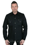 Indigofera - Fargo Shirt Jacket Black Gunpowder Unwashed - 14oz