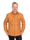 Indigofera - Fargo Shirt Jacket Leather - Cognac