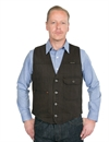 Indigofera - Floyd Vest Hickory Stripe - Brown/Black