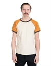 Indigofera - Harvey T-Shirt - Vintage White/Orange/Brown