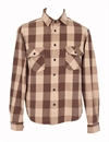 Indigofera - Norris Flannel Shirt - Beige/Brown