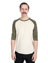 Indigofera - Leon Raglan Sweater - White/Green