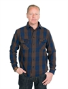 Indigofera - Norris Flannel Shirt - Indigo/Brown