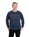 Ldc - Trust The Old E Crew Neck - Heather Blue