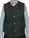 Levi´s Vintage Clothing - Vest - Black Denim