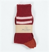 Merz b. Schwanen - S75 Organic Wool Sock KBT Dark Red/Nature