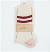 Merz b. Schwanen - S75 Organic Wool Sock KBT Nature/Dark Red