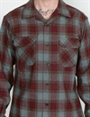 Pendleton - Board Shirt - Burgundy/Brown Check
