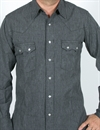 Rising Sun & Co. - BRONCO WESTERN SHIRT - SALT & PEPPER