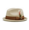 Brixton - Gain Fedora Hat - Light tan/Brown