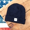 Upstate Stock - Ragg Wool Beanie - Navy Melange
