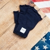 Upstate Stock - Ragg Wool Fingerless Gloves - Navy Melange