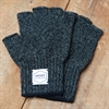 Upstate Stock - Ragg Wool Fingerless Gloves - Dark Melange